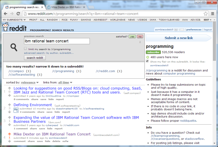 Reddit-IBM-Rational-Team-Concert