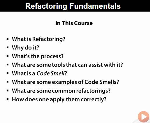 Refactoring Fundamentals