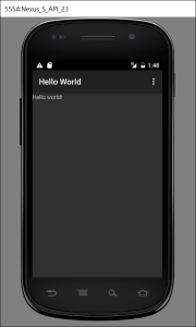HelloWorldWithMenu